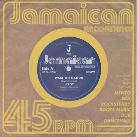 U Roy - Wake The Nation / Non Violence (Jamaican Recordings) UK 7""